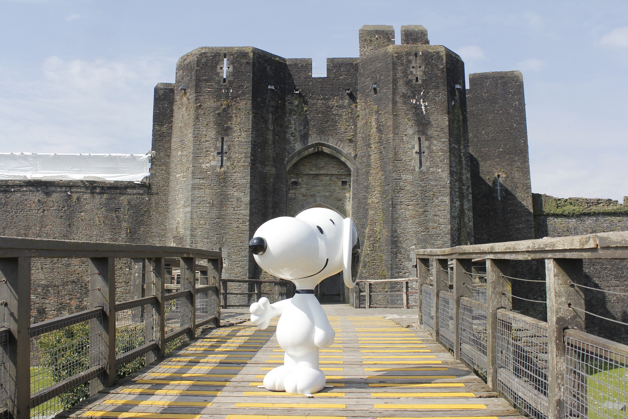 Snoopy at Caerphilly Castle
